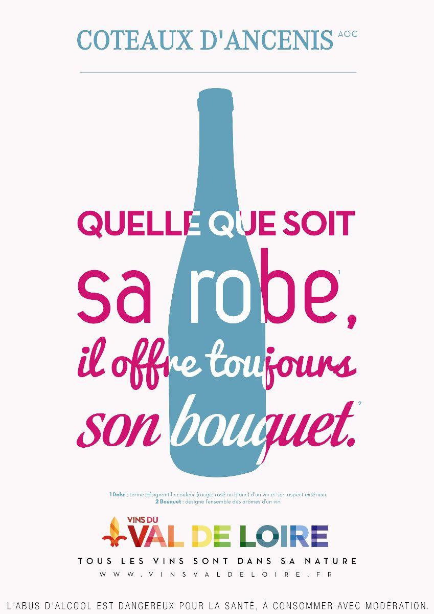 Affiche du Coteaux d'Ancenis, un vin aux multiples couleurs