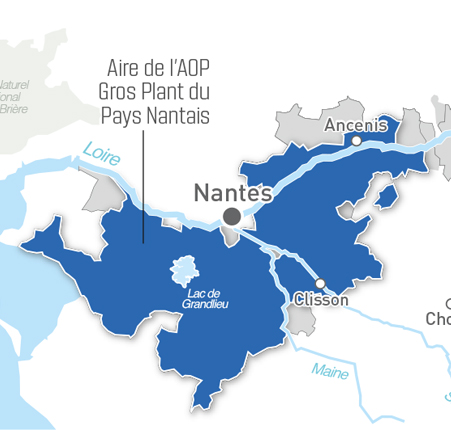 Map for Gros plant du pays nantais