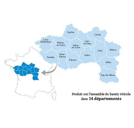 Carte IGP Val de Loire