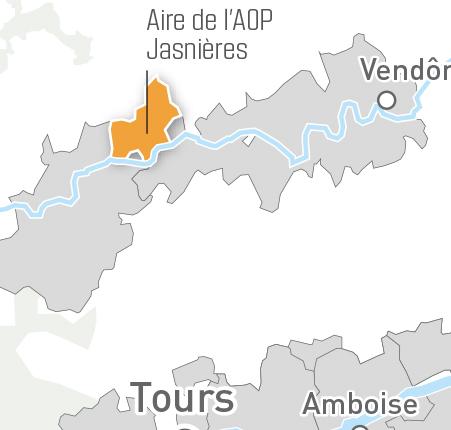carte Jasnières