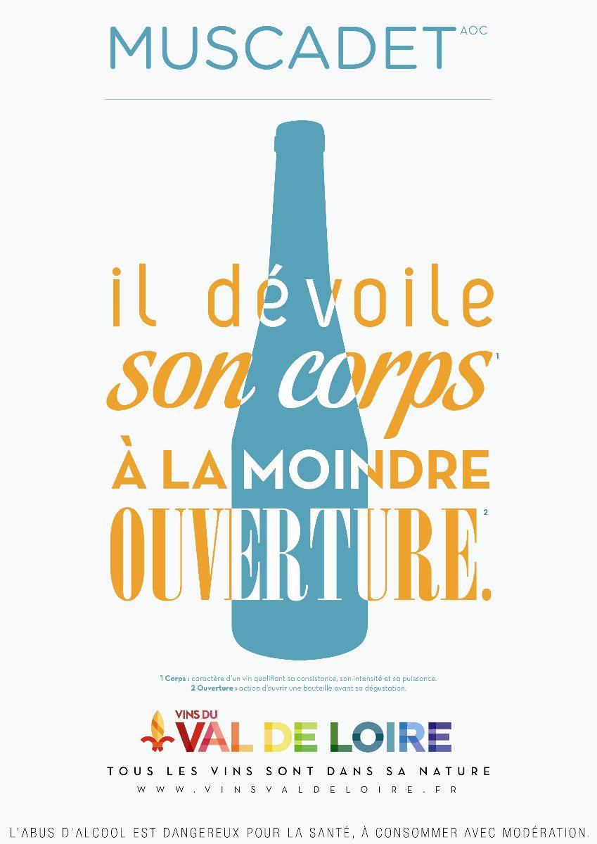 Affiche du Muscadet Côtes de Grandlieu, un vin offrant une palette d'arômes très nuancés