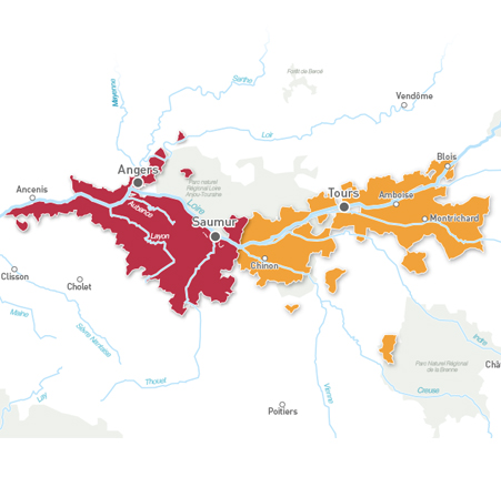 Carte Rosé de Loire