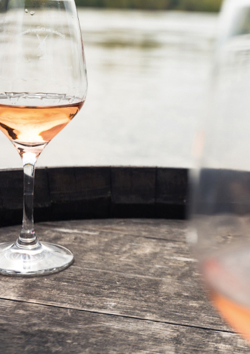 Rosé de Loire, dry in style with a very little sweetness