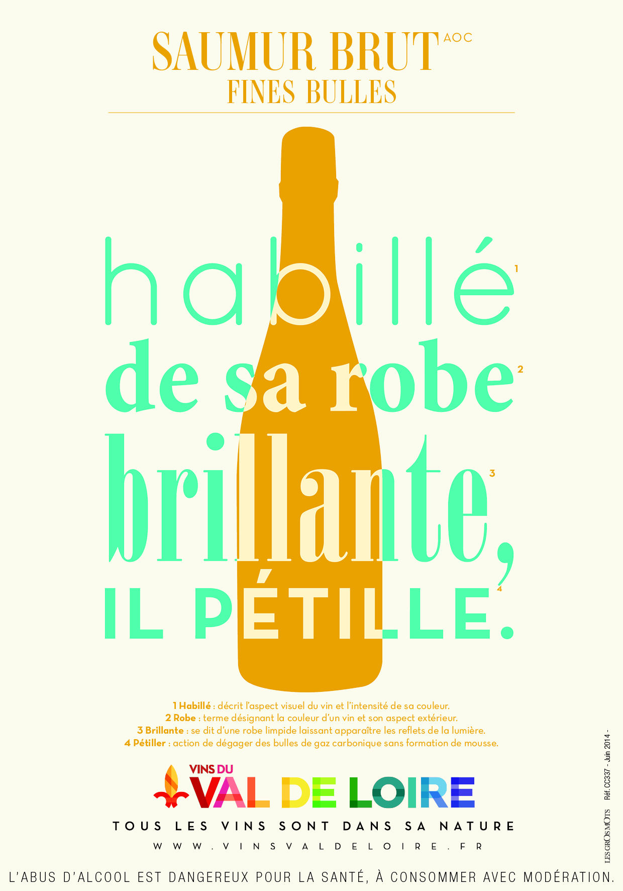 Poster of Saumur Brut, a light sparkling wine