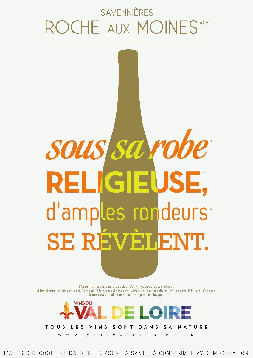 Affiche du Savennières Roche aux Moines, un vin blanc à la persistance aromatique élevée
