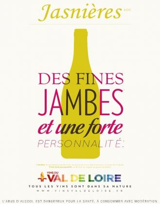 Affiche du Jasnières, un vin blanc moelleux à forte personnalité