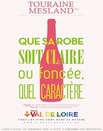 Affiche du Touraine Mesland, un vin de caractère qui se décline dans toutes les couleurs