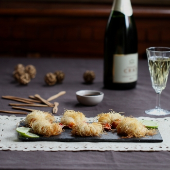 crispy prawns in kataifi pastry loire valley wines