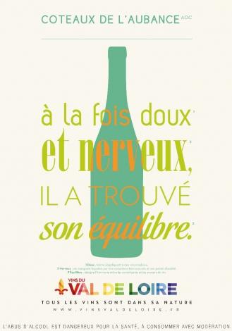 Affiche du Coteaux de l'Aubance, un vin équilibré entre douceur et nervosité