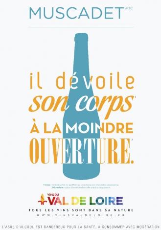Affiche du Muscadet Sèvre et Maine, un vin offrant une palette d'arômes très nuancés