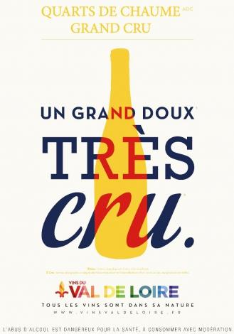 Affiche du Quarts de Chaume Grand Cru, une des AOC les plus prestigieuses de l'Anjou