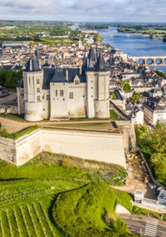 saumur castle and wine of saumur