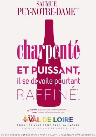 Affiche du Saumur Puy Notre Dame, un vin rouge charpenté et puissant