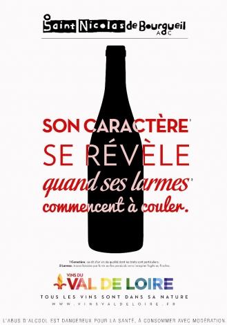 Affiche du Saint-Nicolas-de-Bourgueil, un vin souple et fruité