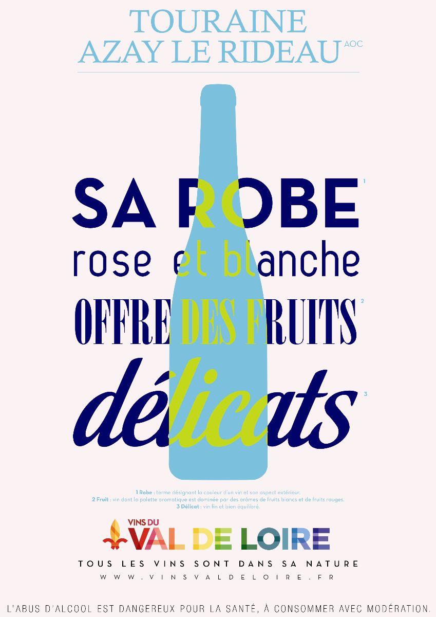 Affiche du Touraine Azay Le Rideau, un vin fruité et aromatique
