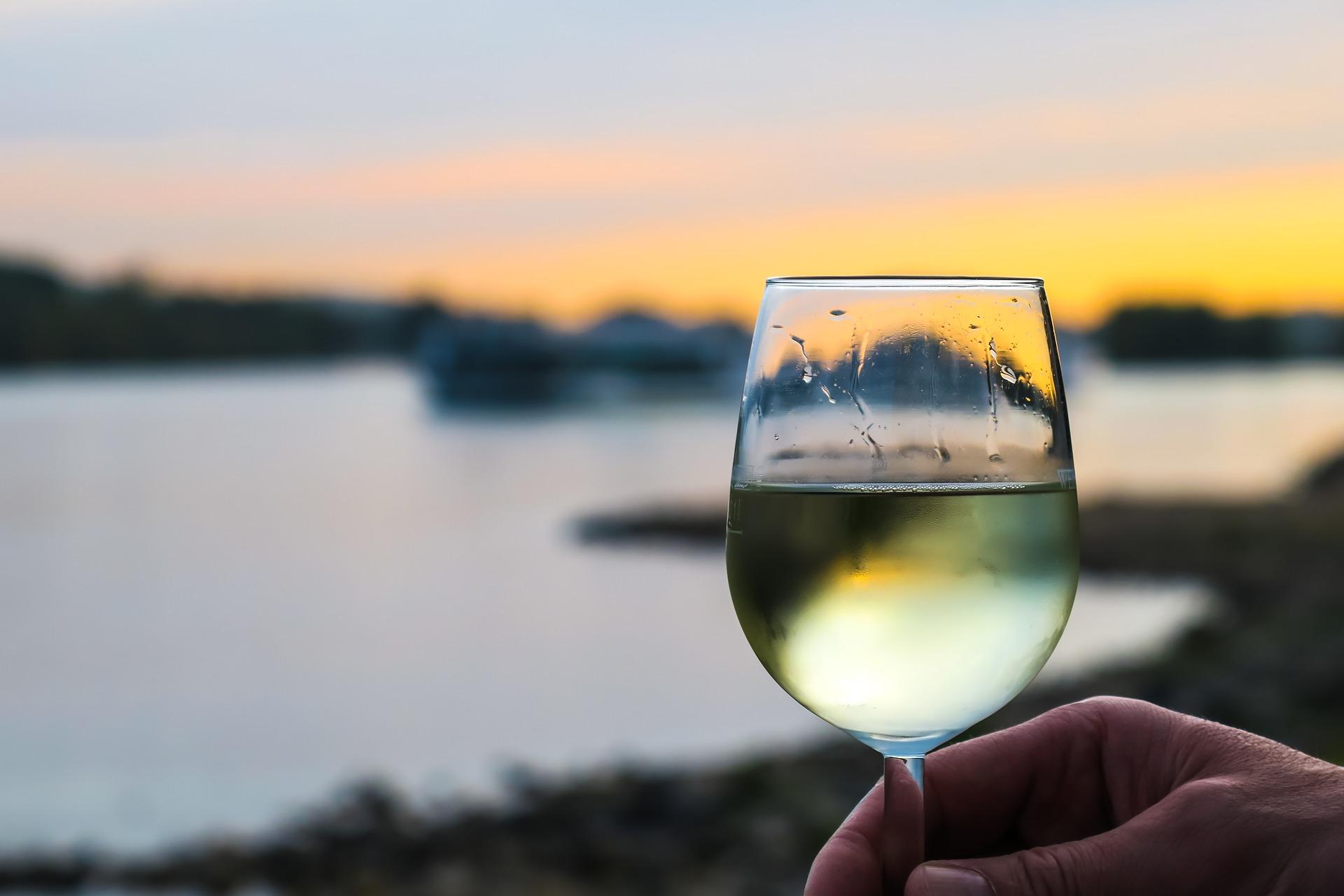 Verre de vin blanc Val de Loire